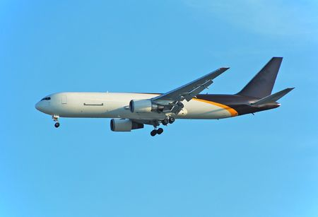 Cargo jet delivering express packages photo