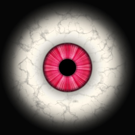 human eye: CLoseup of red eye Stock Photo