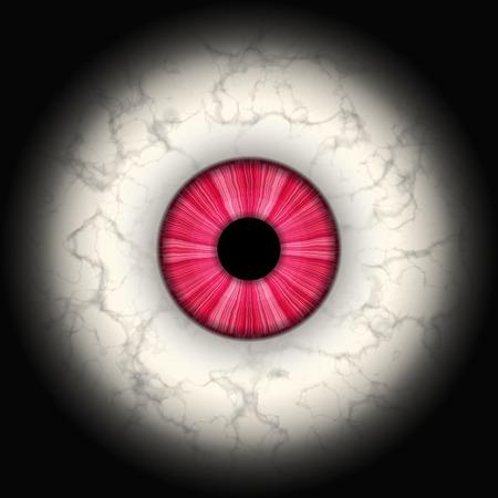 Closeup van rode ogen