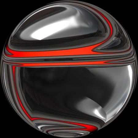 Dark metallic sphere