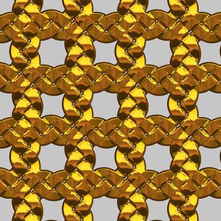 Gold chain islated photo