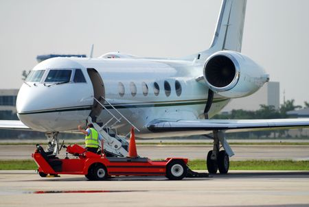 Modern corporate jet avion Banque d'images