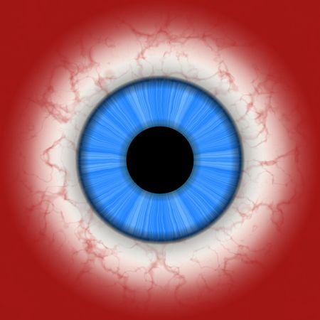 simulations: Closeup of blue eye