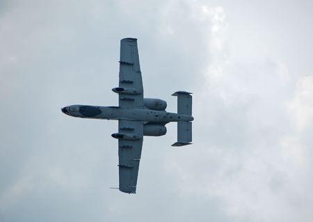Modern combat jet airplane photo