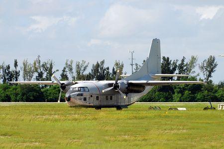 surplus: Old turboprop airplane