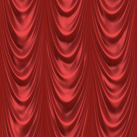 Theater curtain in dark red color Stock Photo
