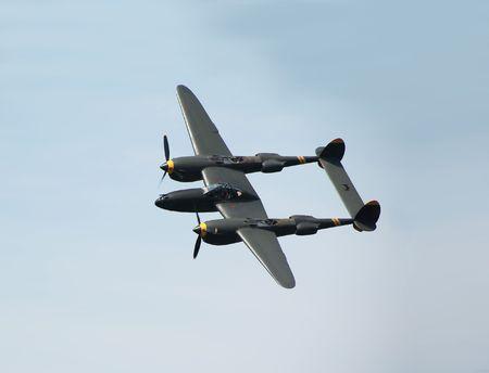 wwii: WWII bomber in flight