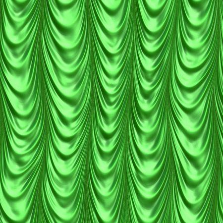 Cortina de seda verde Foto de archivo - 1744843
