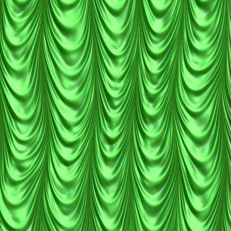 Silk green curtain
