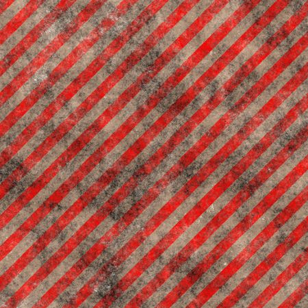 Grungy red and white striped caution sign Imagens - 1736626
