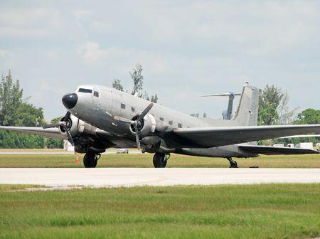 turboprop: Vintage silver turboprop airplane