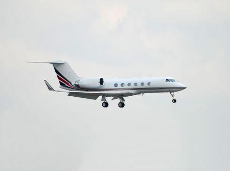 Private jet landing Stock Photo - 1744845