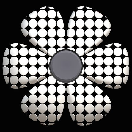 Computer generated black and white daisy