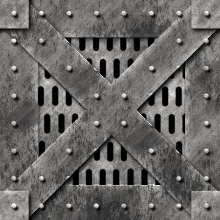 sturdy: Steel cage door