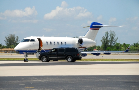 corporate jet: Luxury private jet