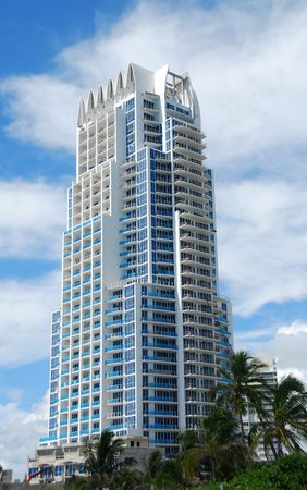 timeshare: Luxury apartment building in Miami Beach Stock Photo