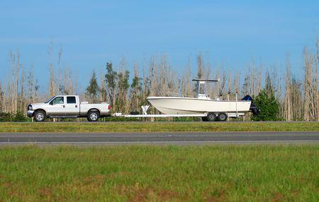 Camión remolque barco Foto de archivo - 1779493