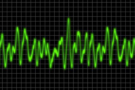 Elektromagnetische golven grafiek Stockfoto