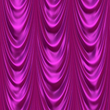 Silky pink theater curtains Stock Photo