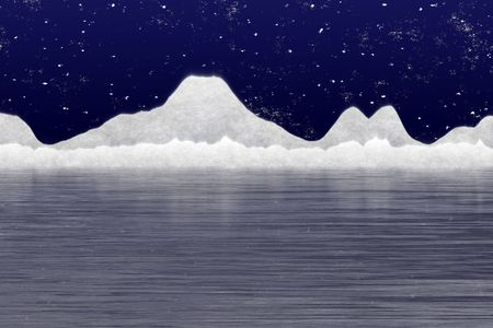 ice surface: Arctic landscape Stock Photo