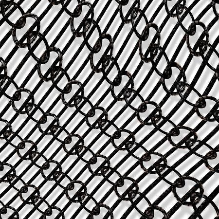Dark metallic chain photo
