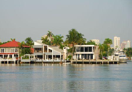 Luxury waterfront home photo