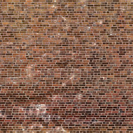 brick and mortar: Brown brick wall