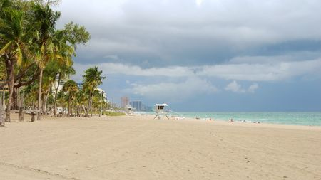 timeshare: Tropical beach scene from Florida