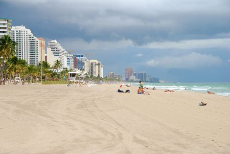 timeshare: Beach scenery from Ft Lauderdale, Florida