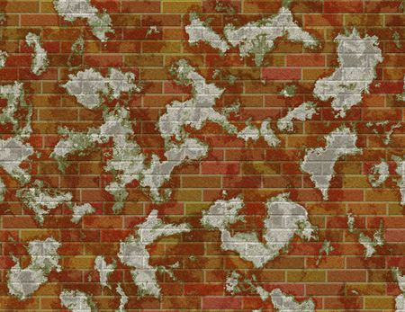 brick and mortar: Illustration of grungy brick wall for background Stock Photo
