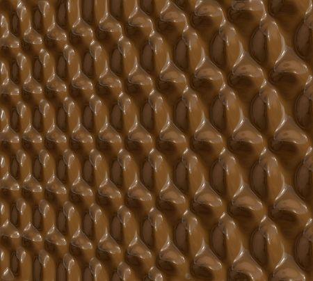 Illustration of glossy pattern of milk chocolate illustration