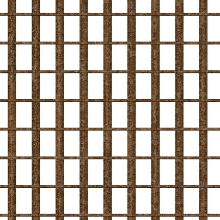 Rusty metal prison bars
