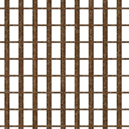 Rusty metal prison bars