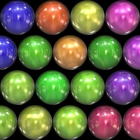 Reflective colored balls