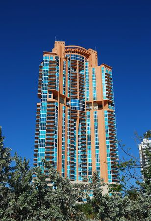 beach front: Beach front highrise real estate Stock Photo