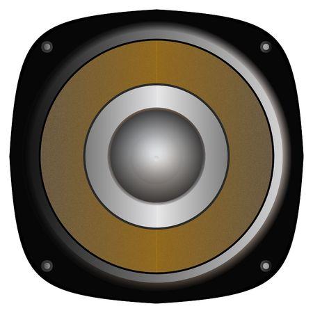 audiowave: Closeup of aurdio speaker Stock Photo