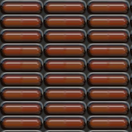Blister pack of brown pills