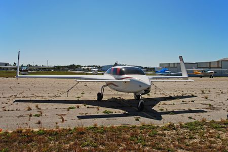Stationary hobby airplane
