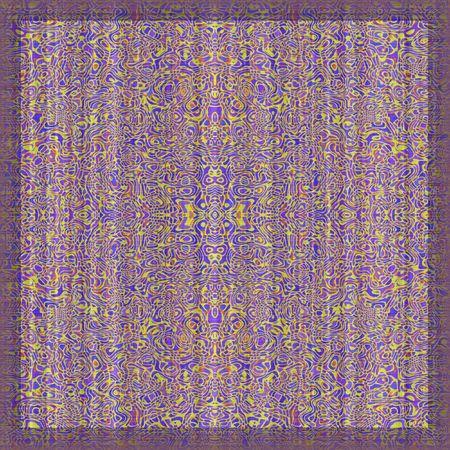 oriental rug: Detail of intricate rug pattern Stock Photo