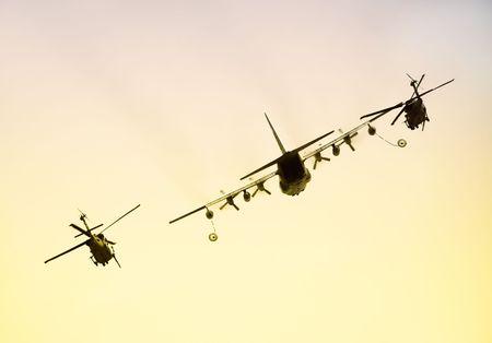 midair: Military aircraft refueling operation