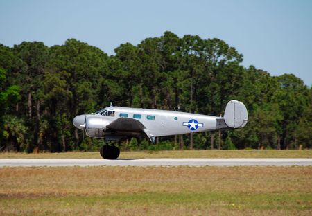wartime: Classic wartime aircraft on runway