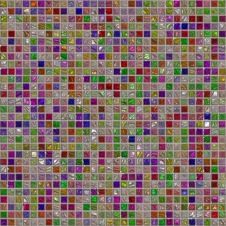 multitude: Colorful artistic tile mosaic Stock Photo