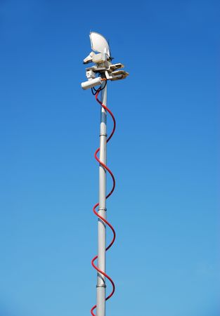 Mobile telecommunications antenna Banco de Imagens