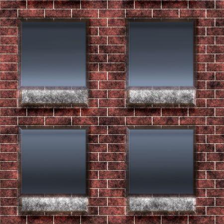 Brick prison window