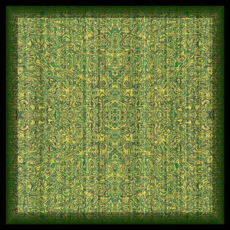 oriental rug: illustration of intricately detailed floor covering Stock Photo