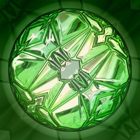 emerald stone: illustration of emerald precious stone