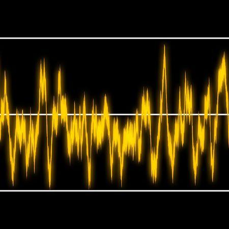 vibran: Amarillo frecuencia gr�fico  Foto de archivo