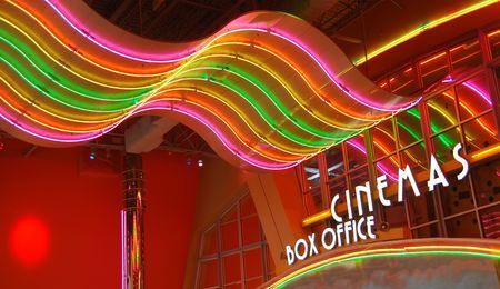 Retro movie theater Stock Photo