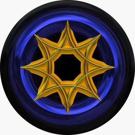 cufflink: Gold medallion