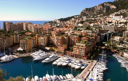 monaco: Panoramic view of Monte Carlo, Monaco